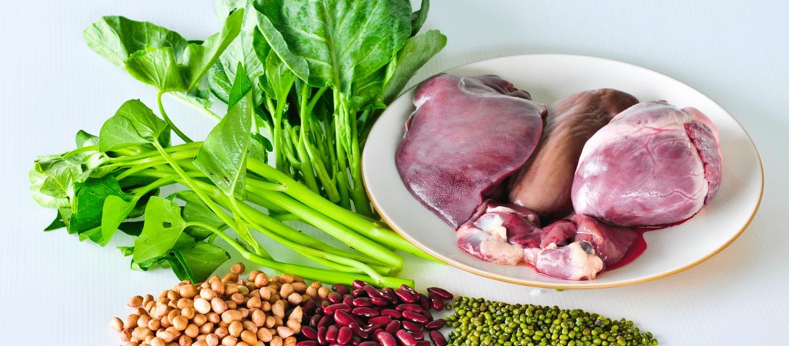Deficiência de ferro dieta vegetariana