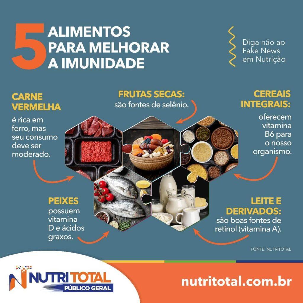 5 alimentos para melhorar a imunidade